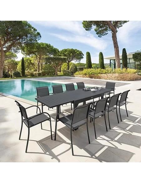 Table De Jardin Extensible Piazza Aluminium Traité époxy